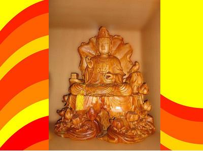 台灣檜木佛像